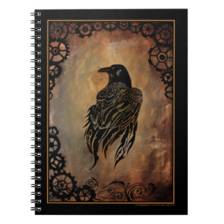 Clockwork Raven Spiral Note Book