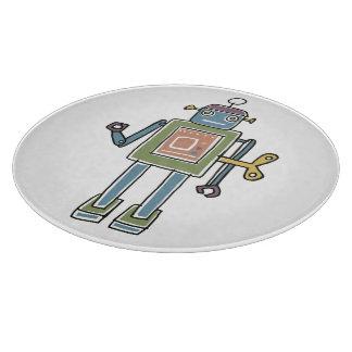 Clockwork Robot Cutting Board
