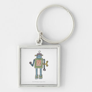 Clockwork Robot Key Ring