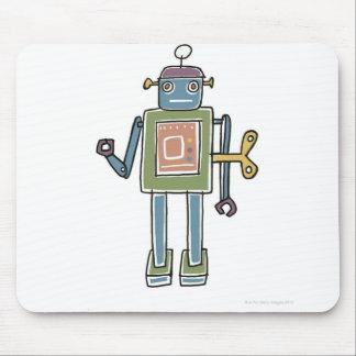 Clockwork Robot Mouse Mat