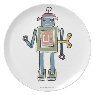 Clockwork Robot Plate