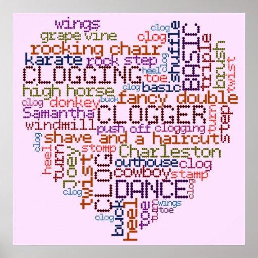 Clogger Clogging Word Art Poster
