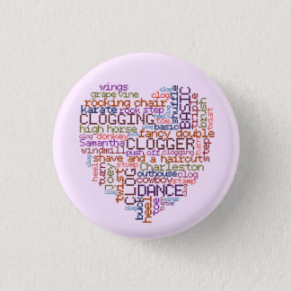 Clogger Clogging Word Art Small 3 Cm Round Badge