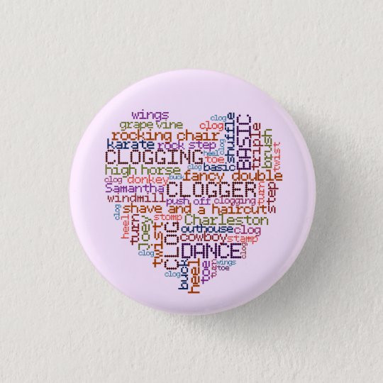 Clogger Clogging Word Art Small 3 Cm Round