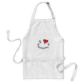 Clogging Gift- I Heart Clogging Standard Apron