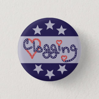Clogging Love Stars Hearts 3 Cm Round Badge