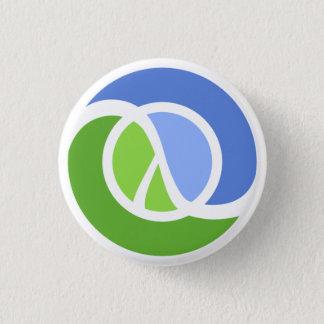 Clojure logo 3 cm round badge
