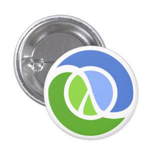 Clojure logo pin