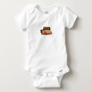 clop traditional hat baby onesie
