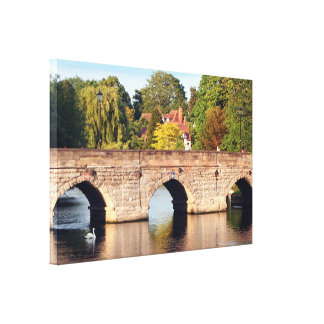 Clopton Bridge, Stratford Upon Avon, England Canvas Print