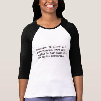 Close all Parentheses T-Shirt