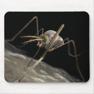 Close up 3d mosquito biting mouse pad
