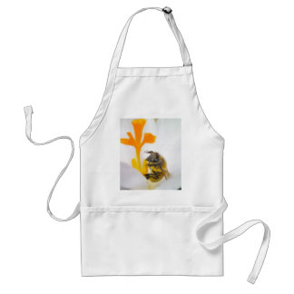 Close Up - Bee In A Crocus Blossom Standard Apron
