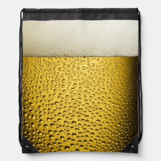 Close Up Beer Glass Drawstring Backpack