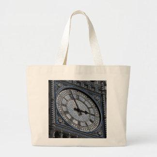 Close up Big Ben Clock Tower Travel Europe Large Tote Bag