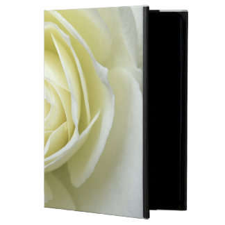 Close up details of white rose iPad air covers