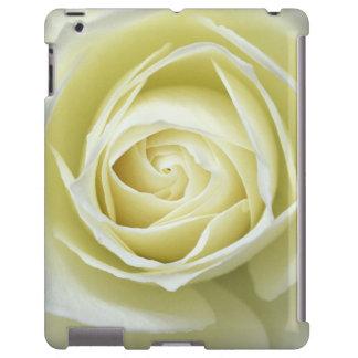 Close up details of white rose iPad case