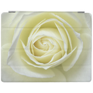 Close up details of white rose iPad cover