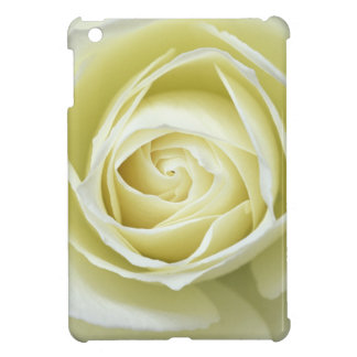 Close up details of white rose iPad mini cases