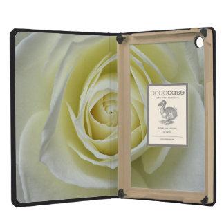 Close up details of white rose iPad mini retina cases