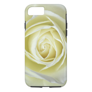 Close up details of white rose iPhone 8/7 case