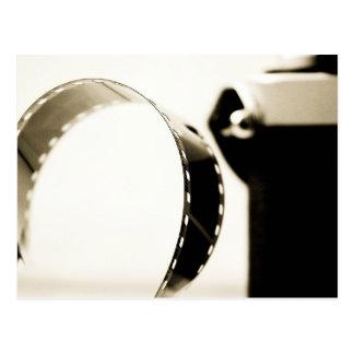 Close up film and carema postcard