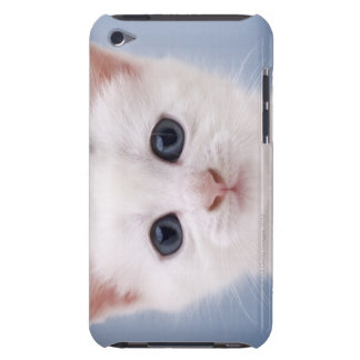 Close up image of a predominately white faced barely there iPod cover