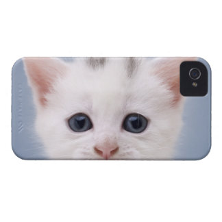Close up image of a predominately white faced Case-Mate iPhone 4 case