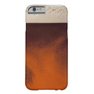 Close up image of amber colored beer with frothy barely there iPhone 6 case