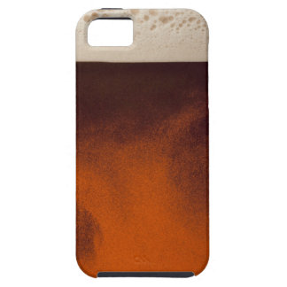 Close up image of amber colored beer with frothy iPhone 5 cases
