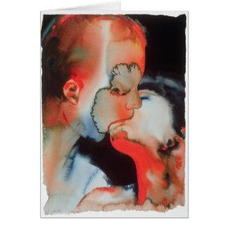 Close-up Kiss 1988 Greeting Card