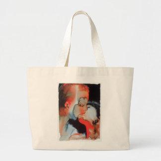 Close-up Kiss 1988 Large Tote Bag