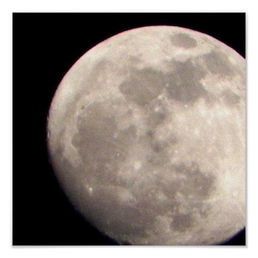 Close up moon picture zazzle - Moon close up ...