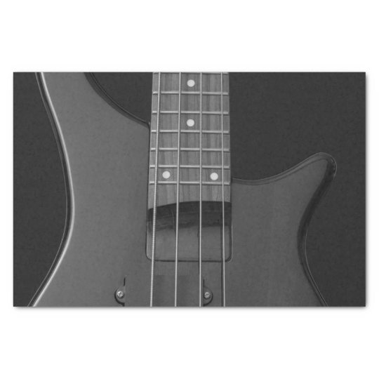 Close-Up Music Bass Guitar Strings and Frets Tissue