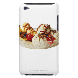 Close-up of a banana split barely there iPod case