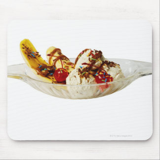 Close-up of a banana split mouse pad