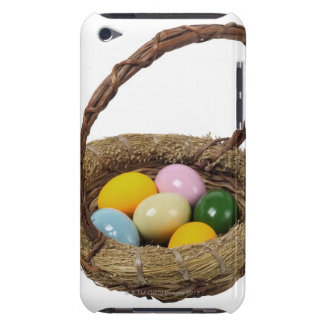 Close up of a basket with colorful eggs iPod touch Case-Mate case