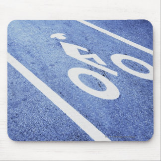 Close-up of a bicycle sign on the road mouse mat