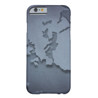 Close-up of a blue globe showing North Africa, Barely There iPhone 6 Case