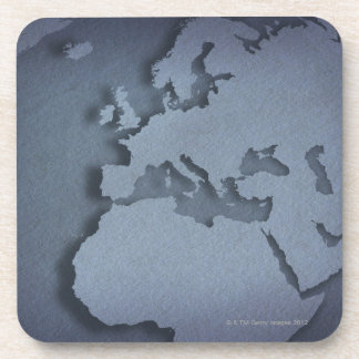 Close-up of a blue globe showing North Africa, Drink Coasters