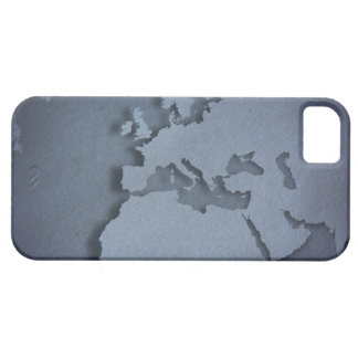 Close-up of a blue globe showing North Africa, iPhone 5 Case
