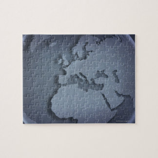 Close-up of a blue globe showing North Africa, Jigsaw Puzzle