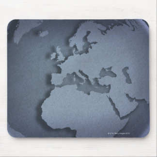 Close-up of a blue globe showing North Africa, Mouse Mat