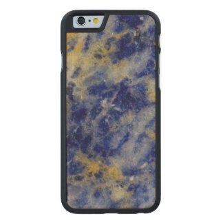 Close up of a Blue Sodalite Carved Maple iPhone 6 Case