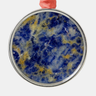 Close up of a Blue Sodalite Christmas Ornament