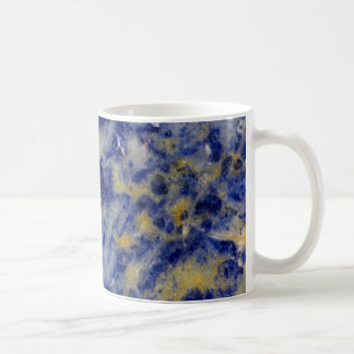 Close up of a Blue Sodalite Coffee Mug