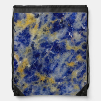 Close up of a Blue Sodalite Drawstring Bag