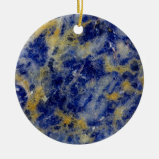 Close up of a Blue Sodalite Round Ceramic Decoration