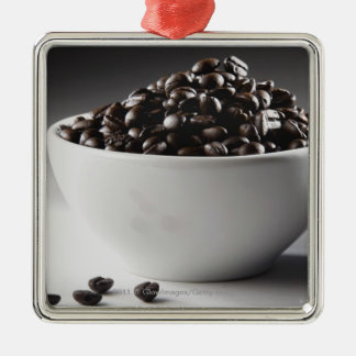 Close-up of a bowl full of coffee beans christmas ornament