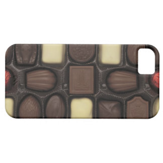 close-up of a box of assorted chocolates case for the iPhone 5